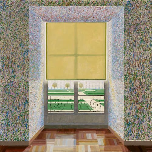 David Hockney, Contre-jour in the French Style (Against the Day dans le Style Français), 1974, Öl auf Leinwand, 214 x 315 cm © David Hockney, Collection Ludwig Museum, Budapest