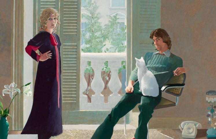 David Hockney, Mr and Mrs Clark and Percy, Detail, 1970/71 (Tate, © David Hockney, Foto: Tate)