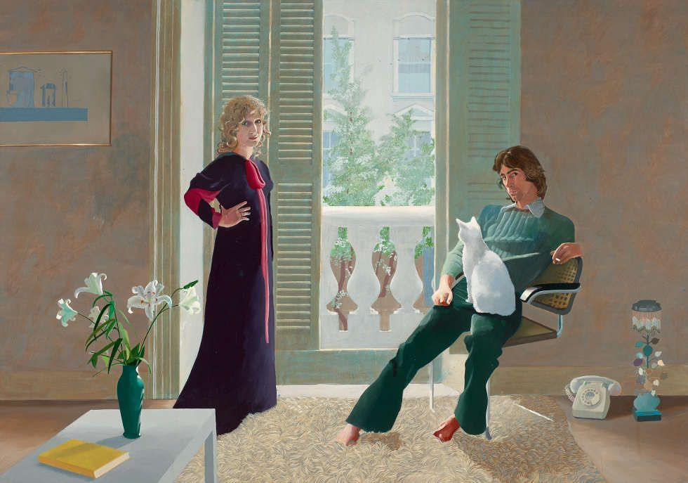 David Hockney, Mr and Mrs Clark and Percy, 1970/71 (Tate, © David Hockney, Foto: Tate)