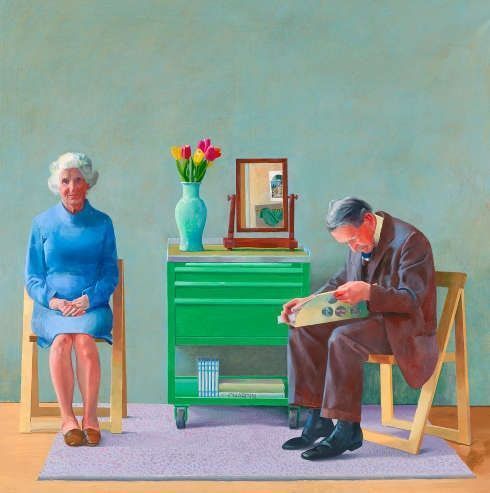 David Hockney, My Parents, 1977 (Tate, London, © David Hockney, © Foto: Tate, London 2019)