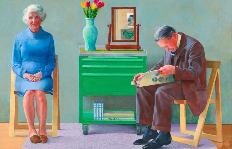 David Hockney, My Parents, Detail, 1977 (Tate, London, © David Hockney, © Foto: Tate, London 2019)