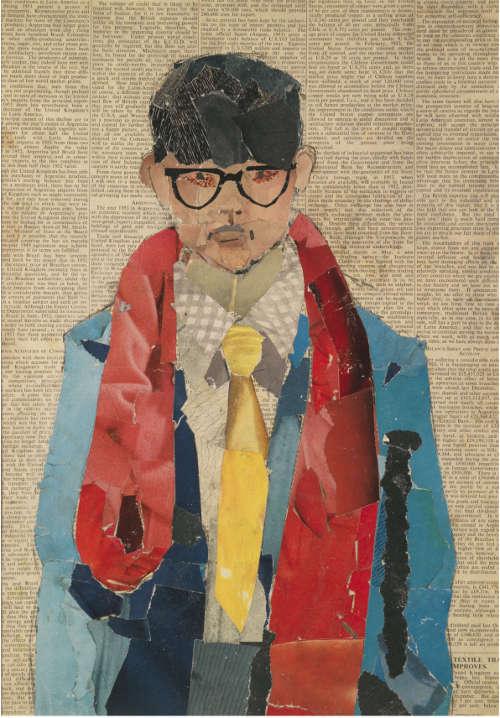 David Hockney, Self Portrait, 1954, Collage, 42 x 29.8 cm © David Hockney. Foto: Richard Schmidt