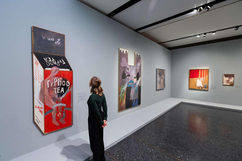 David Hockney, Tea Painting in an Illusionistic Style, 1961, Tate, Ausstellungsansicht Bucerius Kunst Forum, Hamburg, Foto: Ulrich Perrey