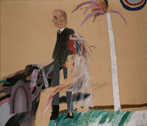 David Hockney, The First Marriage (A Marriage of Styles I), 1962 Öl auf Leinwand, 182,90 x 214 cm © David Hockney Collection Tate, London