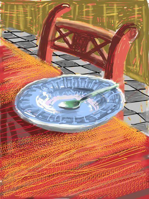 David Hockney, Untitled, 22 June 2010, iPad drawing ©David Hockney