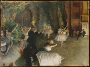 Edgar Degas, Répétition de ballet [Ballettprobe], um 1874, Öl auf Leinwand, 54.3 x 73 cm (Metropolitan Museum of Art, New York, H. O. Havemeyer Collection, Gift of Horace Havemeyer, 1929)