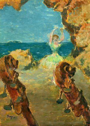 Edgar Degas, Balletttänzerin, 1891, Öl auf Mahagoni, 22 x 15,8 cm (Hamburger Kunsthalle Hamburger Kunsthalle, Hamburg, Germany / Bridgeman Images)