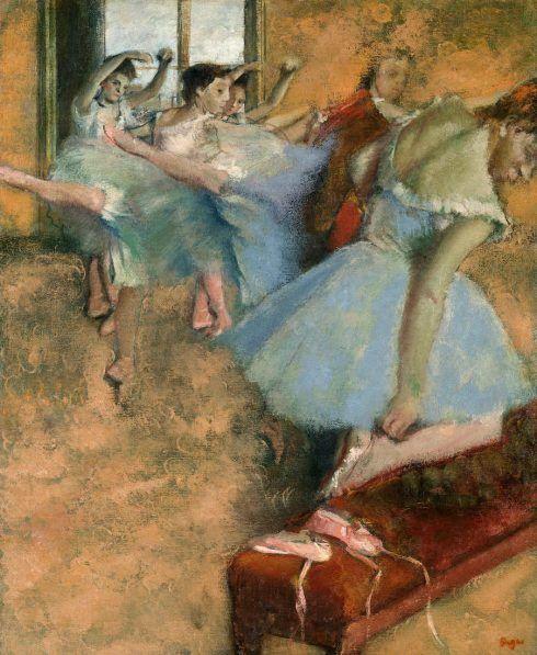 Edgar Degas, Ballettunterricht, 1880–1900, Öl auf Leinwand, 62 x 50,5 cm (Privatsammlung)