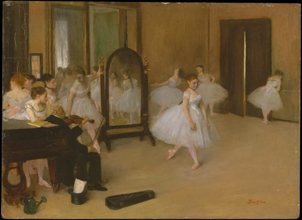 Edgar Degas, Classe de danse [Tanzklasse], um 1870, Öl auf Leinwand, 19.7 x 27 cm (Metropolitan Museum, New York, H. O. Havemeyer Collection, Bequest of Mrs. H. O. Havemeyer, 1929)