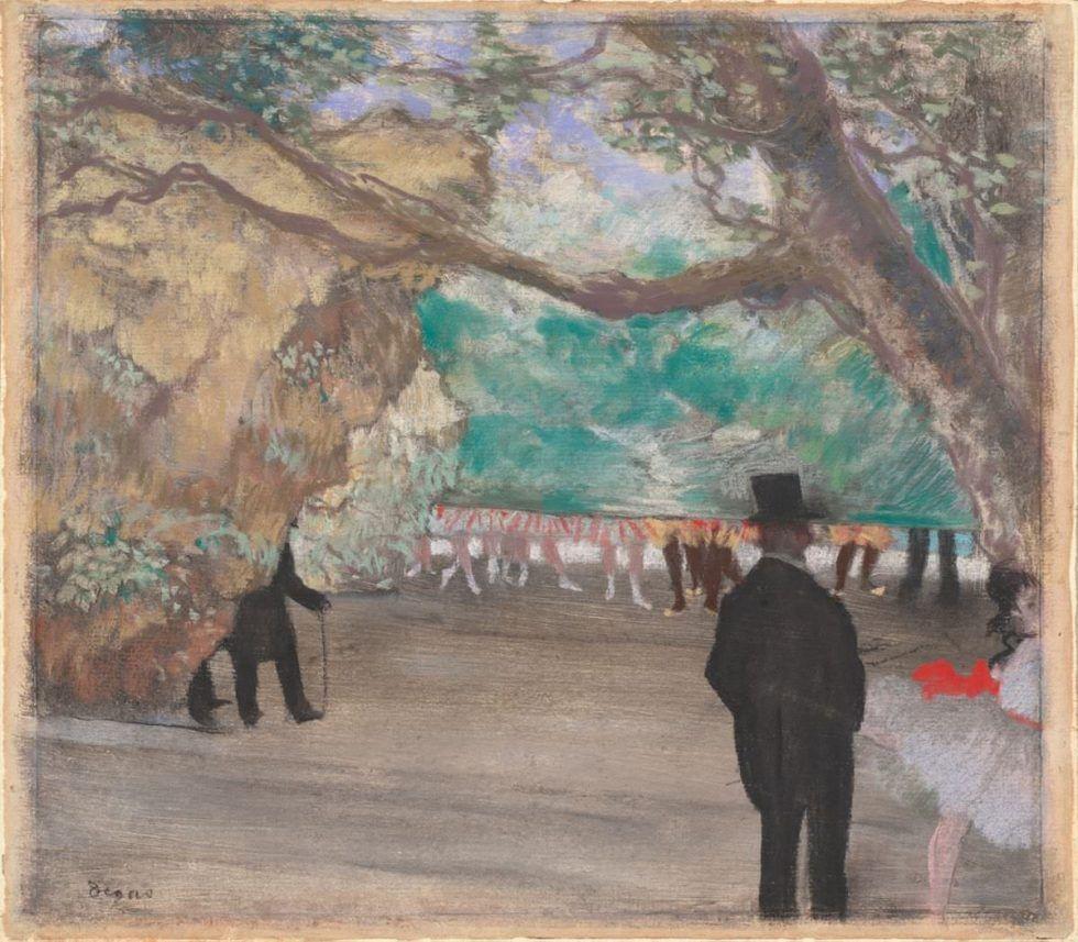Edgar Degas, Der Vorhang, um 1880, Pastell über Kohle und Monotypie, 29 x 33,3 cm (National Gallery of Art, Washington, Collection of Mr. and Mrs. Paul Mellon)