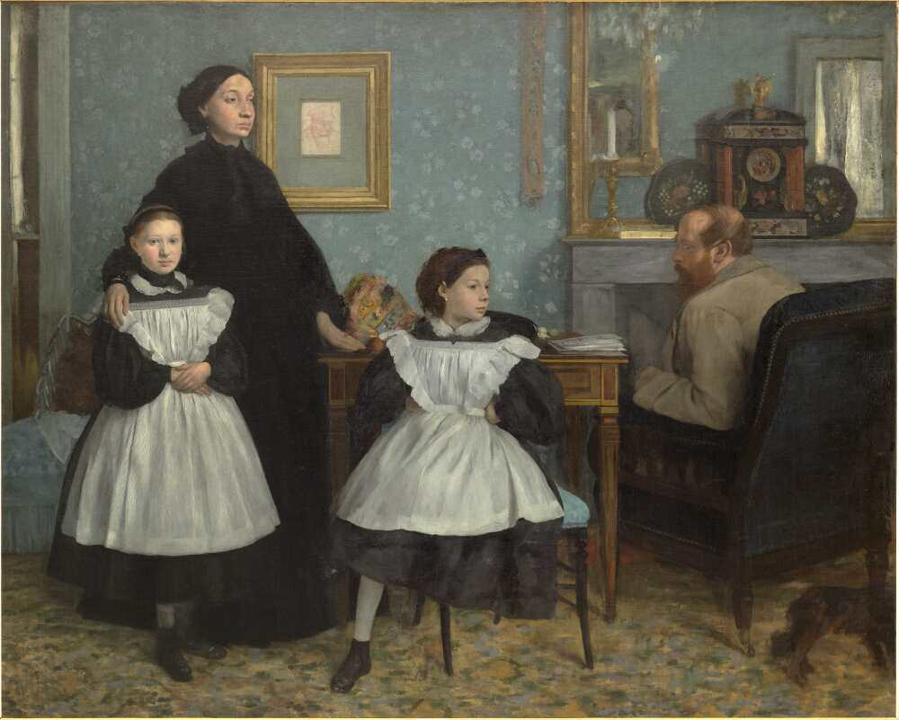 Edgar Degas, Portrait de famille (La Famille Bellelli) [Familienporträt (Die Familie Bellelli)], 1858–1867, Öl auf Leinwand, 200 x 250 cm (Paris, Musée d'Orsay, RF 2210 © Musée d'Orsay, Dist. RMN-Grand Palais / Patrice Schmidt)