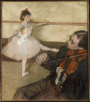 Edgar Degas, Portrait de danseuse, á la leçon [Die Tanzstunde], um 1879, Pastell und Kohle auf Papier, 64.5 x 56.2 cm (Metropolitan Museum of Art, New York, H. O. Havemeyer Collection)