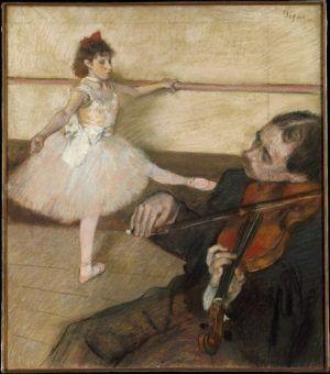 Edgar Degas, Portrait de danseuse, á la leçon [Die Tanzstunde], um 1879, Pastell und Kohle auf Papier, 64.5 x 56.2 cm (Metropolitan Museum of Art, New York, H. O. Havemeyer Collection)