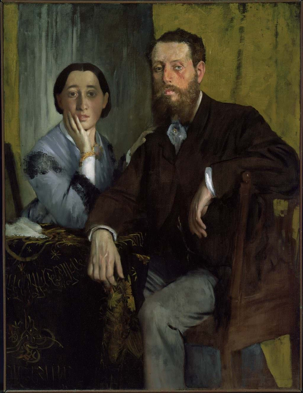 Edgar Degas, Edmondo und Therese Morbilli, um 1865, Öl auf Leinwand, 116,5 × 88,3 cm (Boston, Museum of Fine Arts, Gift of Robert Treat Paine II, Inv. Nr. 31.33, Lemoisne 164)