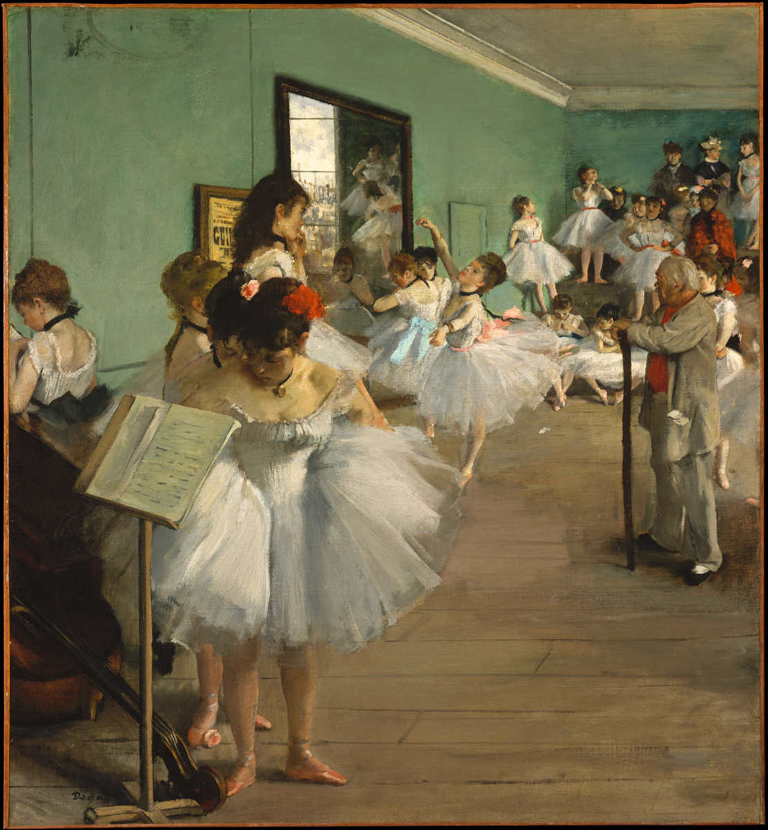 Edgar Degas, Examen de danse, 1874, Öl auf Leinwand, 83.5 x 77.2 cm (Metropolitan Museum of Art, New York, Bequest of Mrs. Harry Payne Bingham, 1986)