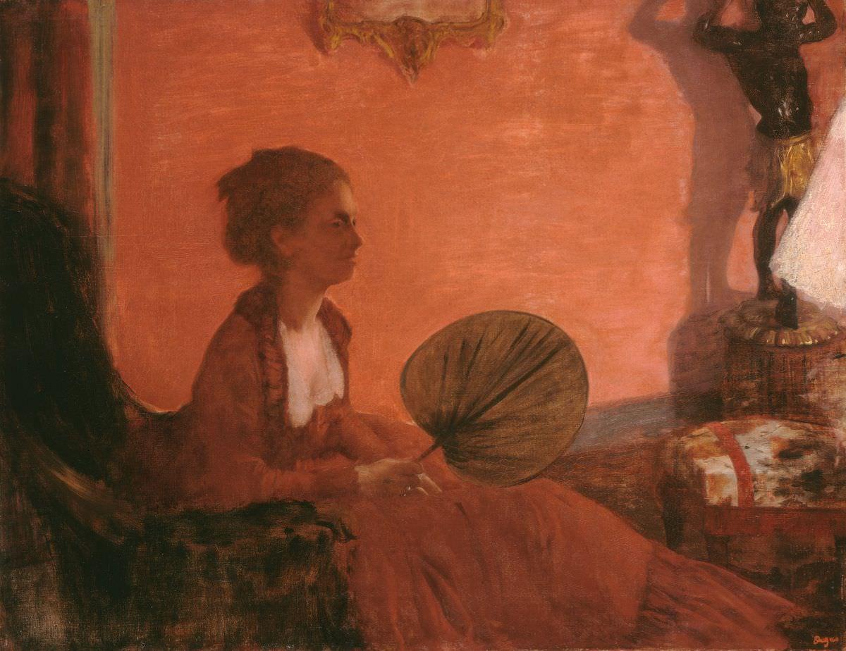 Edgar Degas, Portrait, le soir [Madame Camus], 1869/70, Öl auf Leinwand, 72,7 x 92,1 cm (National Gallery of Art, Washington, Chester Dale Collection)