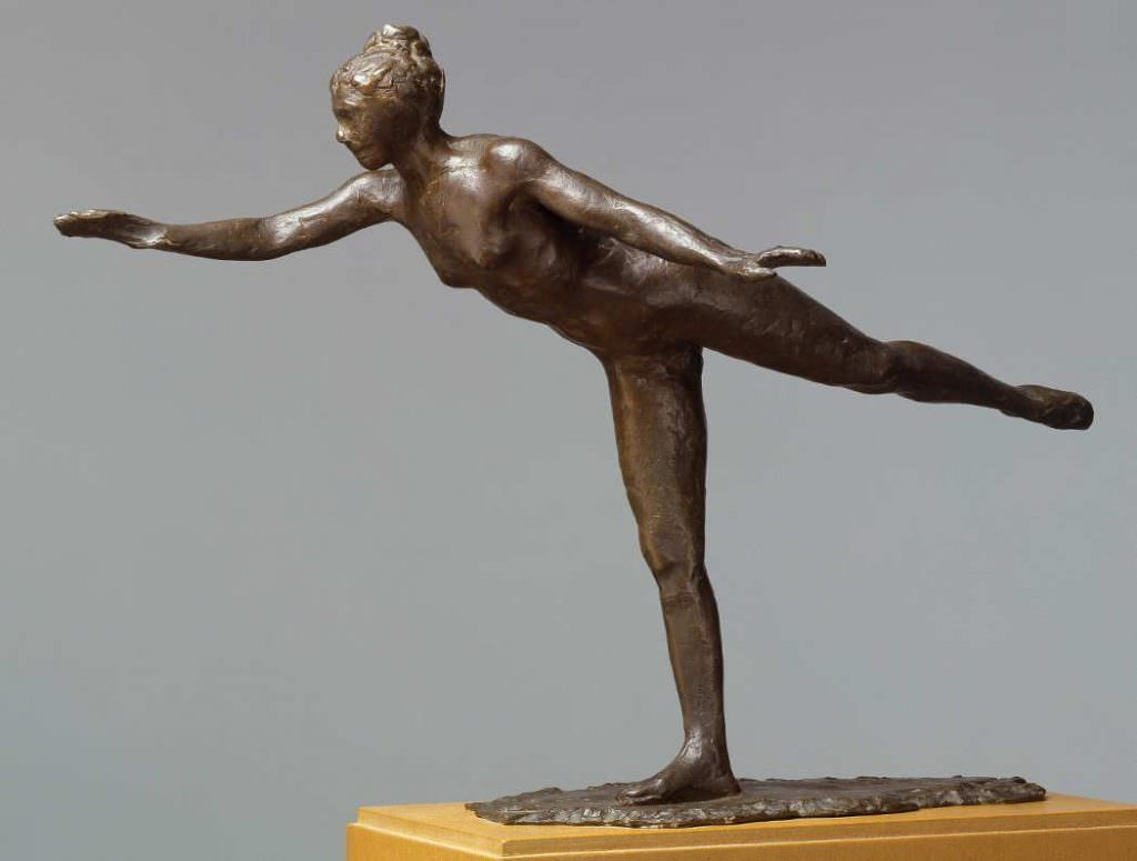 Edgar Degas, Tänzerin, Große Arabeske, zweite Position, 1882–1895, Bronze, 43 x 28 x 61 cm (Hamburger Kunsthalle bpk / Hamburger Kunsthalle / Elke Walford)