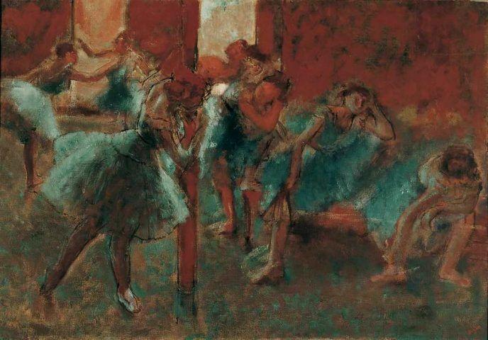 Edgar Degas, Tänzerinnen im Probensaal, 1895/96, Öl auf Leinwand, 70,5, x 100,5 cm (Von der Heydt-Museum Wuppertal Foto: Medienzentrum/Antje Zeis-Loi)