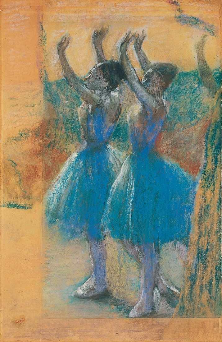 Edgar Degas, Zwei Tänzerinnen, um 1900, Pastell auf Papier, 79 x 51 cm (Von der Heydt-Museum Wuppertal Foto: Medienzentrum/Antje Zeis-Loi)