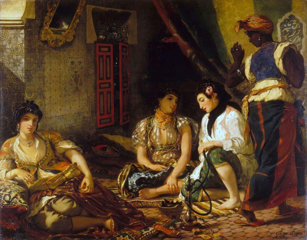 Eugène Delacroix, Die Frauen von Algier, 1834, Öl/Lw, 180 x 229 cm (Musée du Louvre, département des Peintures)