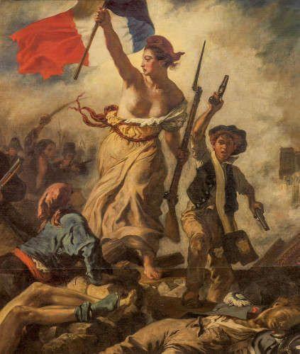 Eugène Delacroix, Die Freiheit führt das Volk, 28 Juli 1830, Detail (Musée du Louvre, département des Peintures © Musée du Louvre, dist. RMN / Angèle Dequier)