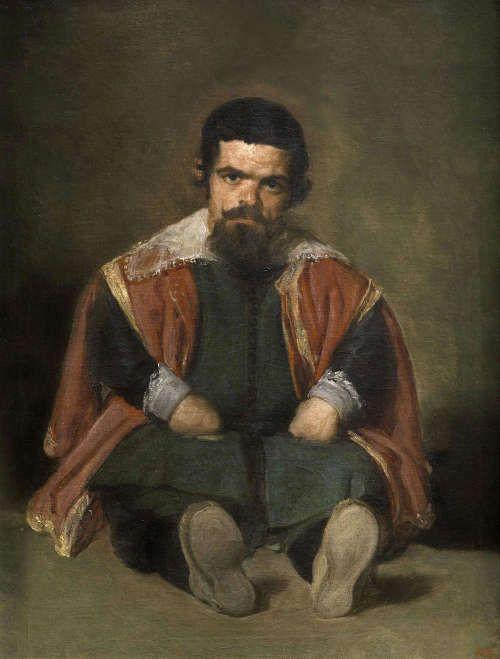 Diego Velázquez, Der Zwerg, El Primo, 1644, Öl auf Leinwand, 106,5 x 82,5 cm (Museo Nacional del Prado, Madrid)
