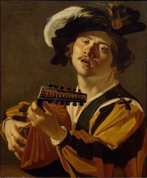 Dirck van Baburen, Der Lautenspieler, 1622, Öl/Lw, 71,2 x 58,5 cm (Centraal Museum Utrecht)