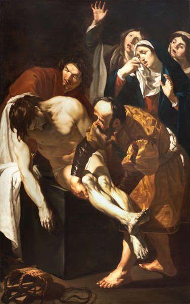 Dirck van Baburen, Die Grablegung Christi, um 1617–1621, Öl/Lw, 219 x 140 cm (Collectie Centraal Museum Utrecht; Schenkung 1938 © Centraal Museum, Utrecht / Ernst Moritz)