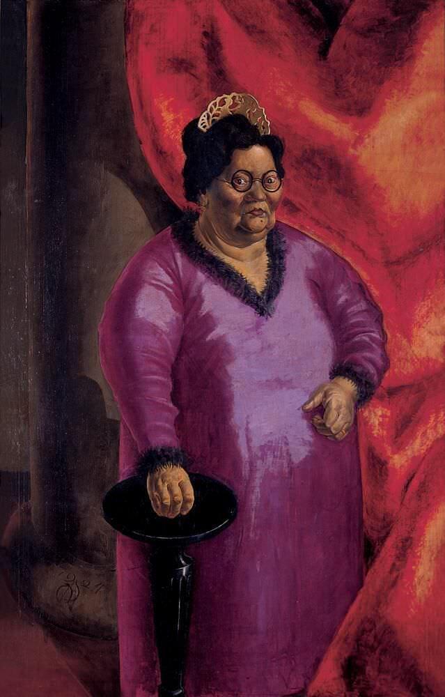 Otto Dix, Bildnis der Kunsthändlerin Johanna Ey, 1924, Öl auf Leinwand, 140 x 90 cm (erworben durch die Gesellschaft der Freunde der Kunstsammlung Nordrhein-Westfalen e.V.), © VG Bild-Kunst, Bonn, 2016