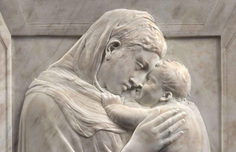 Donatello, Madonna mit Kind (Madonna Pazzi), Detail, um 1420–1425 (Staatliche Museen zu Berlin – Preußischer Kulturbesitz. Skulpturensammlung und Museum für Byzantinische Kunst. Foto Antje Voigt)