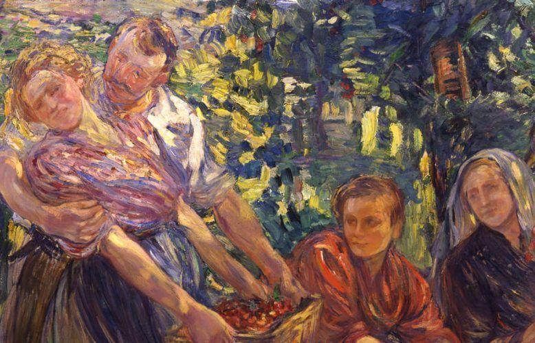 Dora Hitz, Kirschenernte, Detail