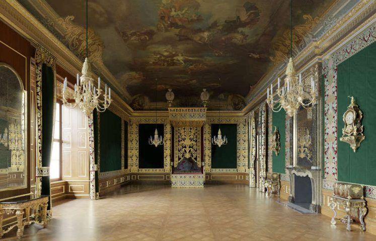 Dresden, Residenzschloss, Paradeschlafzimmer, virtuelle Rekonstruktion