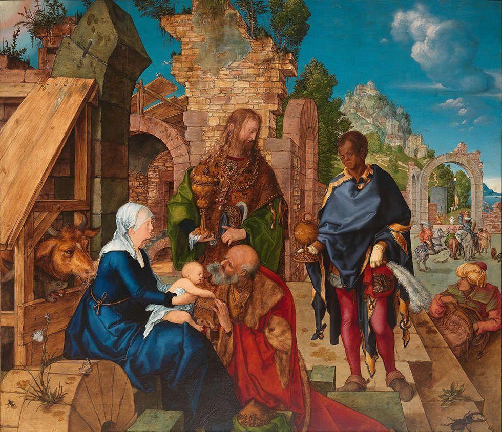 Albrecht Dürer, Anbetung der Könige, 1504, Öl auf Holz (Florenz, Gallerie degli Uffizi © Gabinetto Fotografico delle Gallerie degli Uffizi)