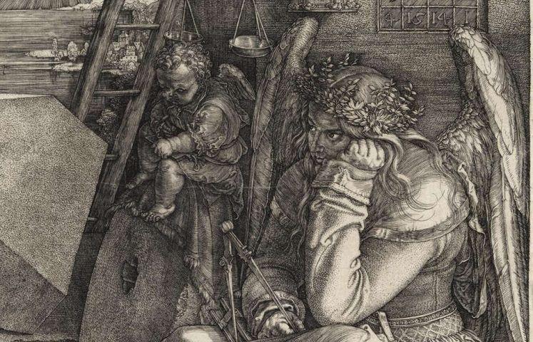 Dürer, Melancholia I, Detail (Hamburger Kunsthalle)