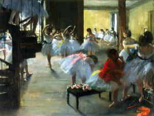 Edgar Degas, Ecole de danse [Ballettschule], 1873, Öl auf Leinwand, 48.3 x 62.5 cm (Corcoran Gallery of Art, Washington, D.C., William A. Clark Bequest, 1926.26.73)