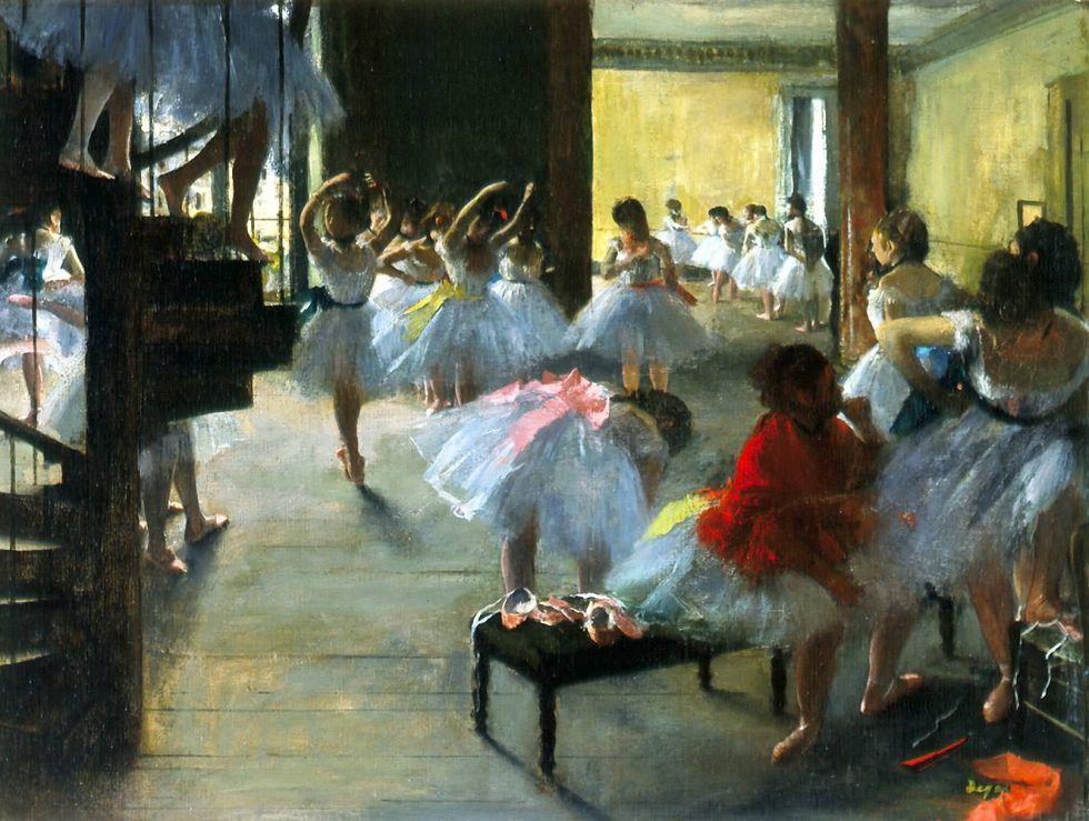 Edgar Degas, Ecole de danse [Ballettschule], 1873, Öl auf Leinwand, 48.3 x 62.5 cm (Corcoran Gallery of Art, Washington, D.C., William A. Clark Bequest, 1926.26.73)