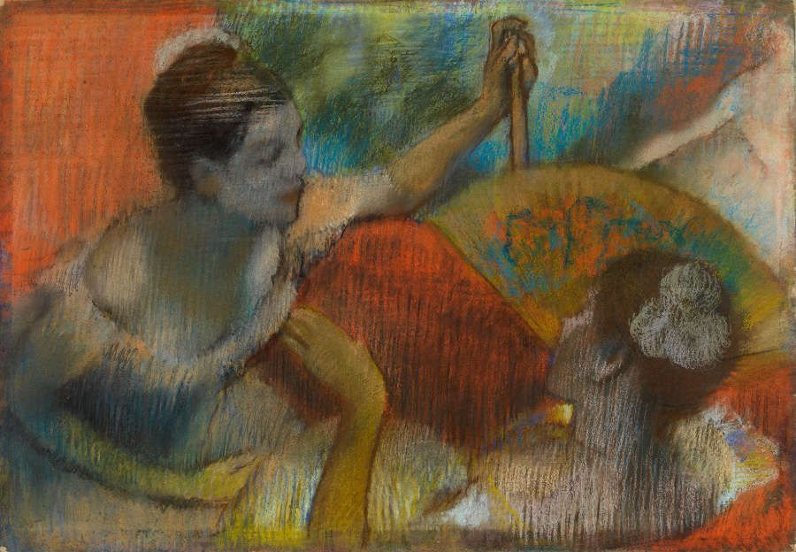 Edgar Degas, Frauen in einer Loge, um 1885–1890, Pastell auf Papier, 62.2 × 87 cm (The Burrell Collection, Glasgow (35.231) © CSG CIC Glasgow Museums Collection)