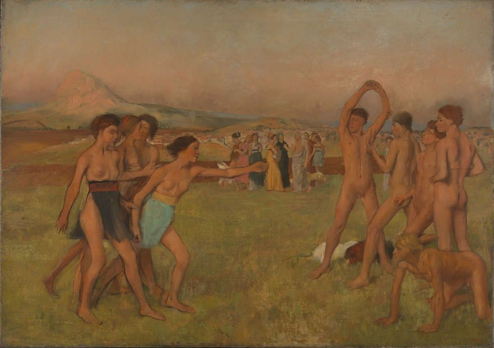 Edgar Degas, Die jungen Spartaner, um 1860, Öl/Lw, 109.5 x 155 cm (Bought, Courtauld Fund, 1924 © The National Gallery, London)