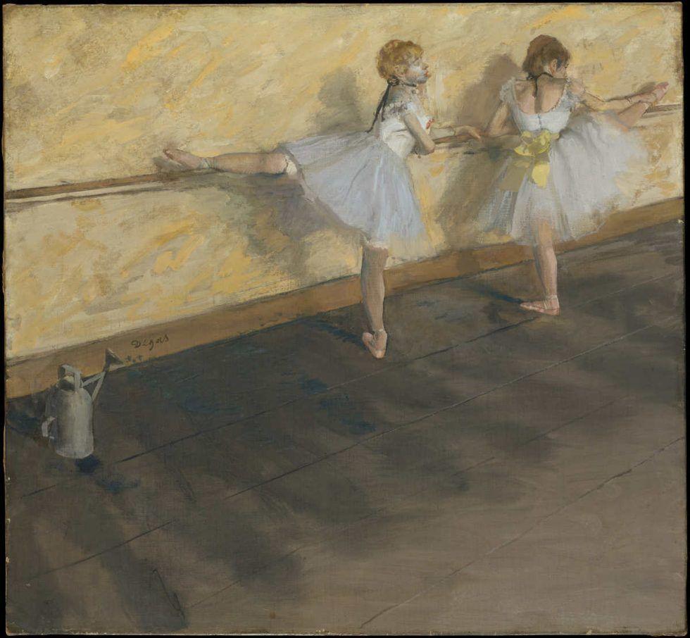 Edgar Degas, Danseuses à la barre [Tänzerinnen an der Stange], 1876/77, Öl auf Leinwand, 75.6 x 81.3 cm (H. O. Havemeyer Collection, Bequest of Mrs. H. O. Havemeyer, 1929)
