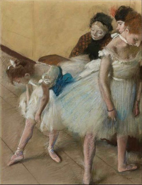 Edgar Degas, Examen de danse [Tanzprüfung], um 1880, Pastell und Kohle auf Papier, 63.4 x 48.2 cm (Denver Art Museum, Anonymus gift)