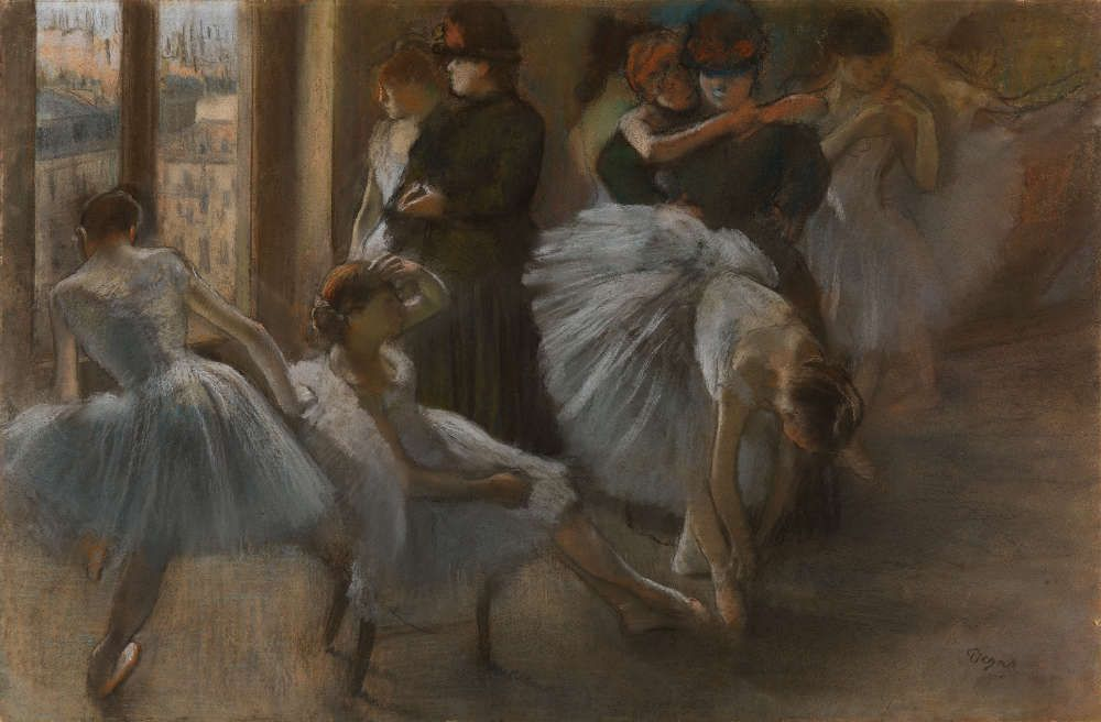 Edgar Degas, Vorbereitung für die Tanzstunde, um 1877, Pastell auf Papier, 58 x 83 cm (The Burrell Collection, Glasgow (35.238) © CSG CIC Glasgow Museums Collection)