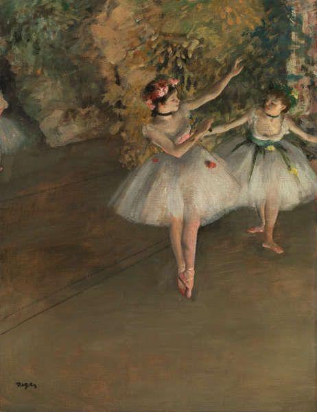 Edgar Degas, Zwei Tänzerinnen auf der Bühne, 1874, Öl/Lw, 61.5 × 46 cm (© The Samuel Courtauld Trust, The Courtauld Gallery, London)