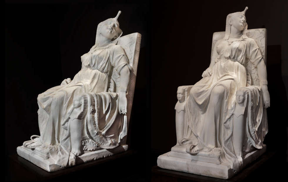 Edmonia Lewis, The Death of Cleopatra, 1876, Marmor, 160 x 79.4 x 116.8 cm (Smithsonian American Art Museum, Gift of the Historical Society of Forest Park, Illinois, 1994.1)