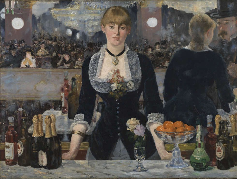 Edouard Manet, Eine Bar im Folies-Bergère, Detail, 1882, Öl/Lw, 96 x 130 cm (The Courtauld Gallery (The Samuel Courtauld Trust, London)