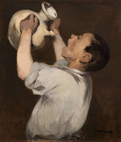 Edouard Manet, Knabe mit Krug [La Régalade], 1862/1872, Öl/Lw, 61,8 x 54,3 cm (The Art Institute of Chicago)