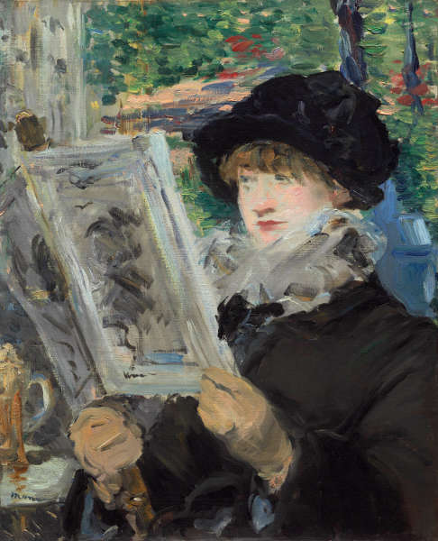 Edouard Manet, Lesende Frau, 1880 oder 1881 (The Art Institute of Chicago, Mr. and Mrs. Lewis Larned Coburn Memorial Collection)