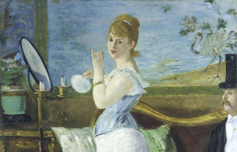Édouard Manet, Nana, Detail, 1877, Öl auf Leinwand, 154 x 115 cm (© Hamburger Kunsthalle/bpk Foto: Elke Walford)