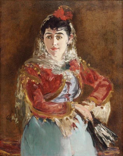 Edouard Manet, Porträt von Émilie Ambre als Carmen, 1880 (Philadelphia Museum of Art, gift of Edgar Scott)