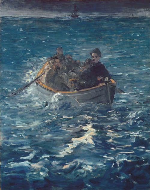Edouard Manet, Rocheforts Flucht [L'évasion de Rochefort], 1880/1881, Öl/Lw, 143 x 114 cm (Kunsthaus Zürich, Vereinigung Zürcher Kunstfreunde, 1955)