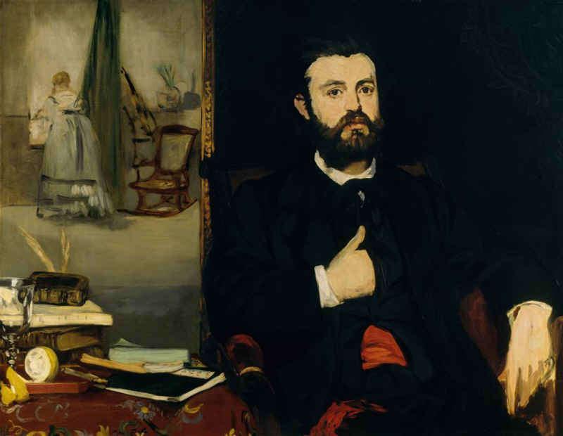 Edouard Manet, Der Dichter Zacharie Astruc, 1866, Öl/Lw, 90,5 x 116 cm (Kunsthalle Bremen - Der Kunstverein in Bremen)